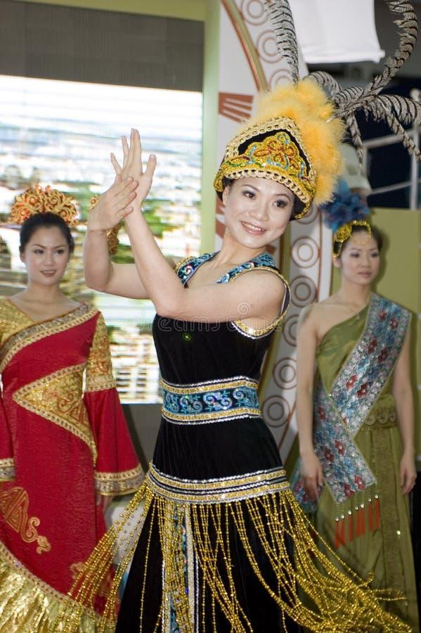 Foire culturelle de la Chine - danseur de Guangxi photo stock