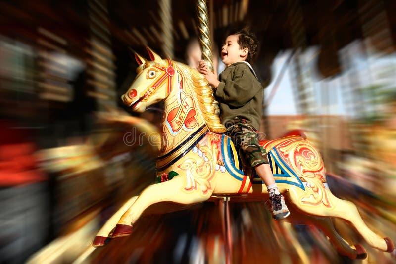Foire d'amusement de carrousel images libres de droits