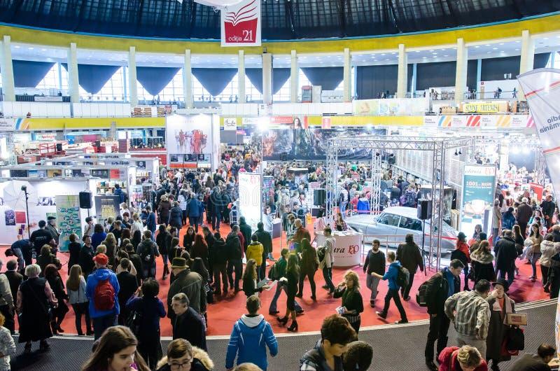 Foire de livre de Gaudeamus, Bucarest, Roumanie 2014 images stock