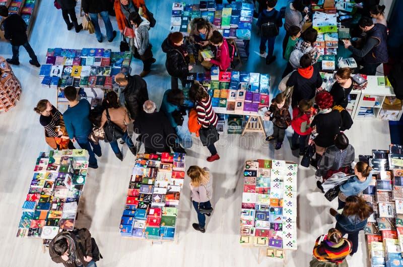 Foire de livre de Gaudeamus, Bucarest, Roumanie 2014 photos stock