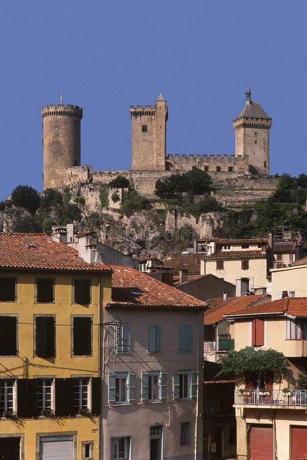Foix del ariege della Francia Midi pyrenees fotografia stock libera da diritti