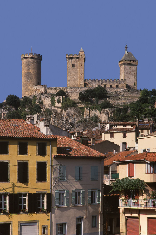 Foix do ariege de France midi pyrenees foto de stock royalty free