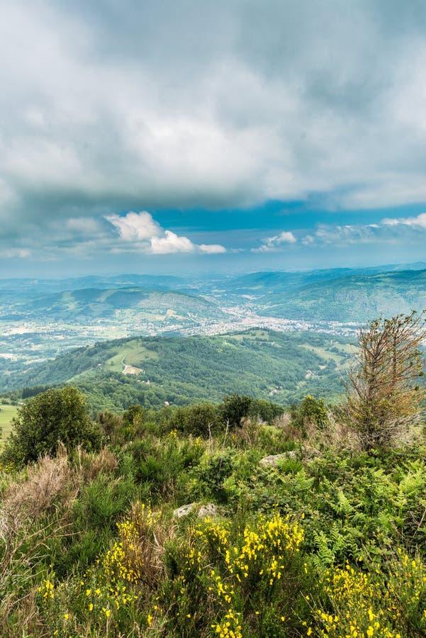 Foix surroundings in Ariege, France. Foix surroundings in Ariege, Midi Pyrenees, France royalty free stock image