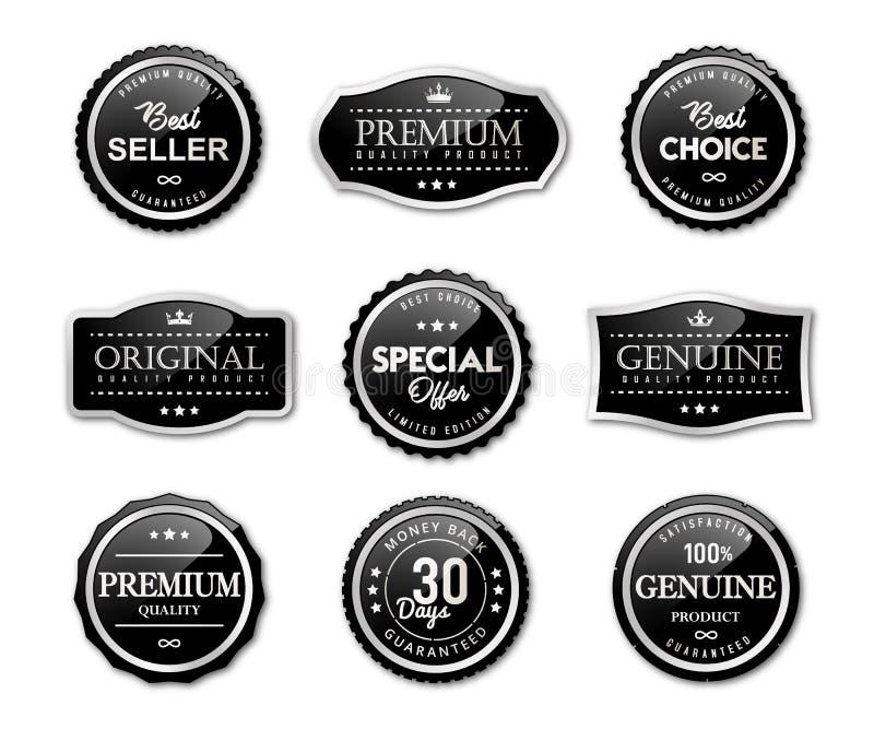 Fok etykietki i premii ilości produkt royalty ilustracja