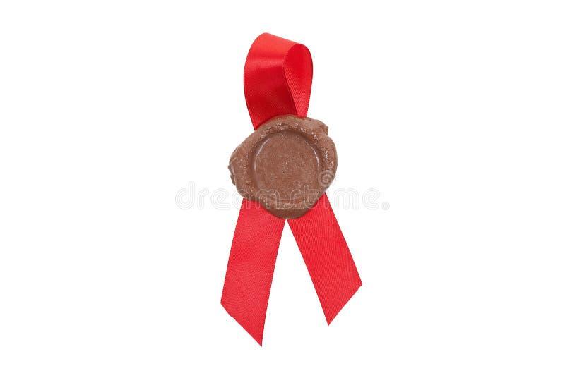 foka czerwony tasiemkowy wosk zdjęcia royalty free