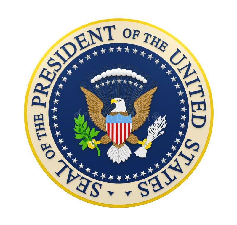 Foka prezydent stanów zjednoczonych Odizolowywający royalty ilustracja