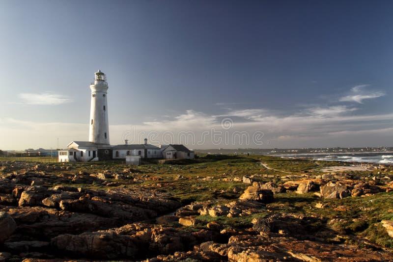 Foka punktu latarnia morska w przylądka St Francis, Południowa Afryka obrazy stock