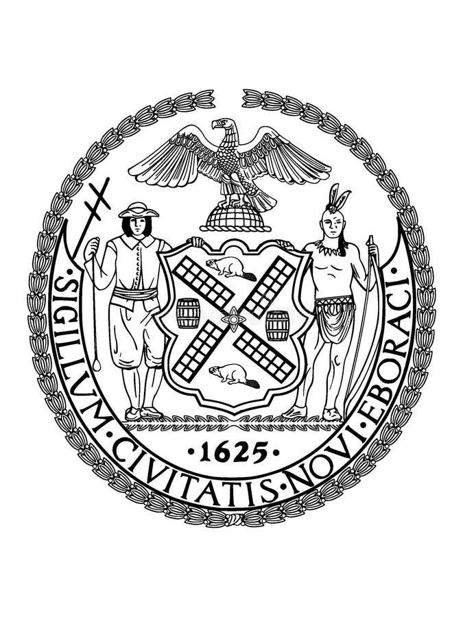 Foka usa miasto Nowy Jork, Nowy Jork royalty ilustracja