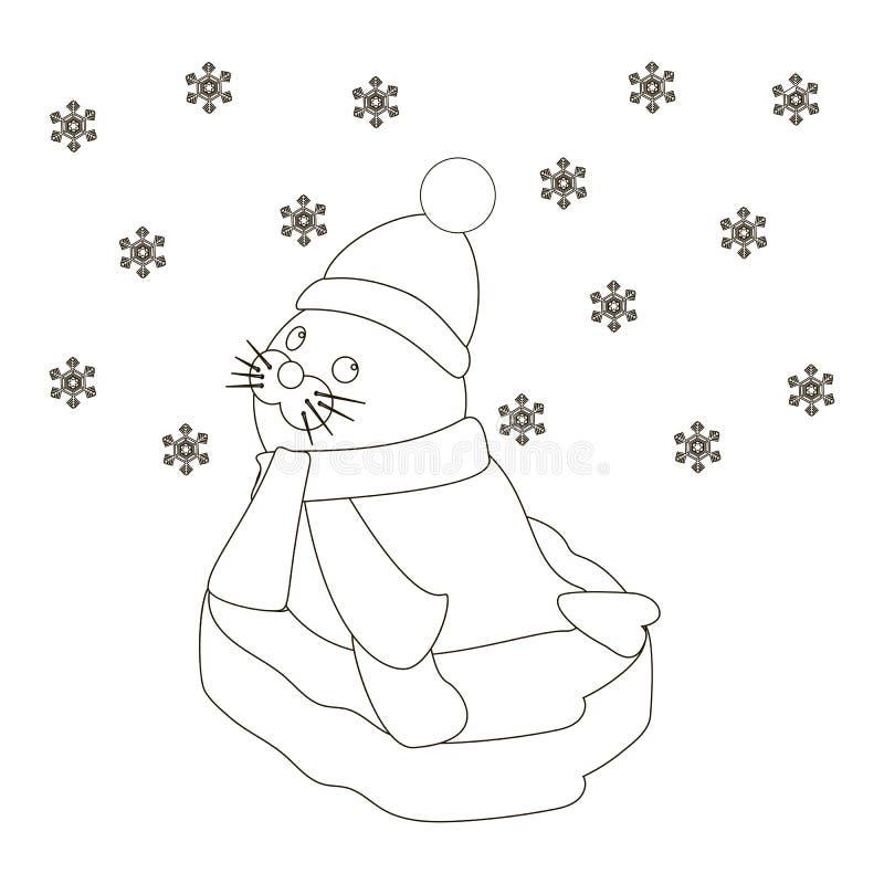 Foki dziecko na lodowym floe ilustracji