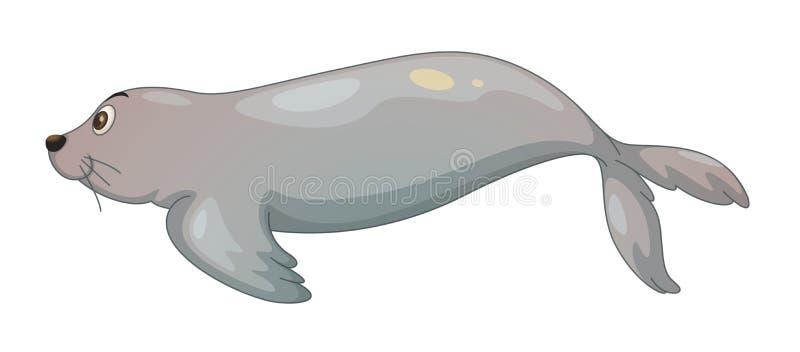 Foki ryba royalty ilustracja