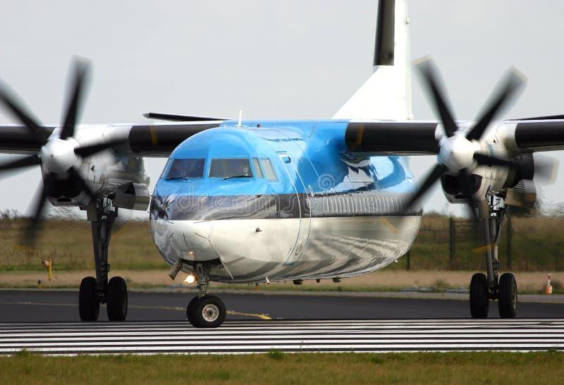 Fokker 50 lizenzfreie stockbilder