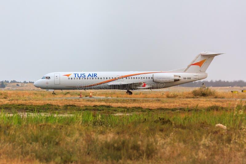 Tus Air Fokker 100 stock image