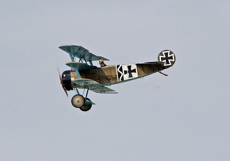 Fokker dr1 триплана стоковое фото