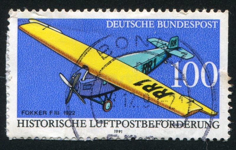 Fokker FIII imagenes de archivo