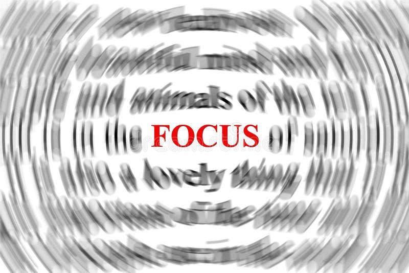 Fokus stock illustrationer