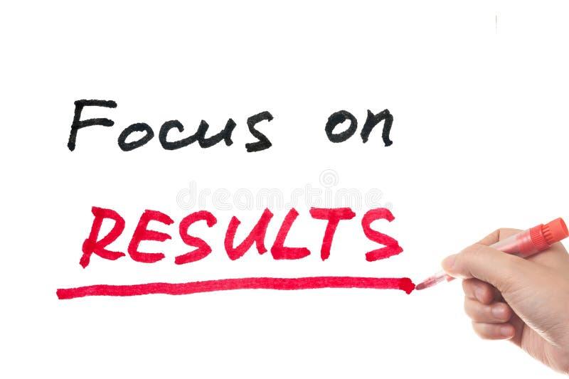Fokus auf Ergebnissen lizenzfreies stockfoto