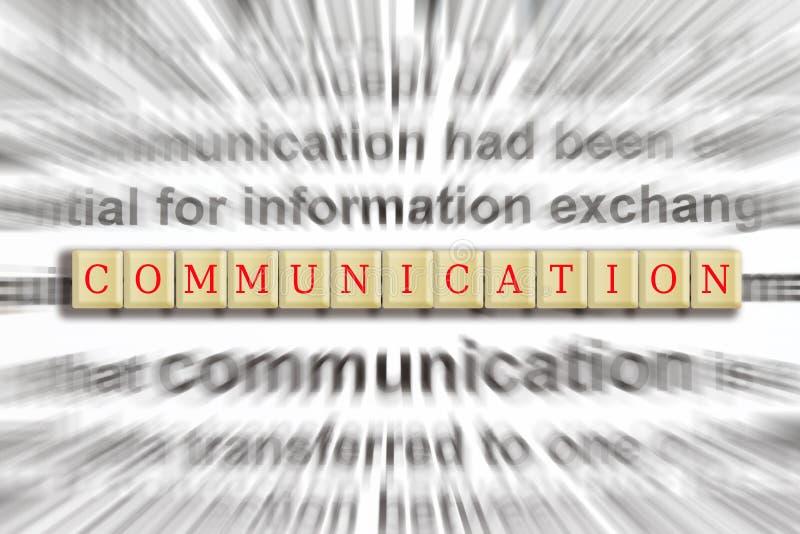 Fokus auf Kommunikation stockfoto