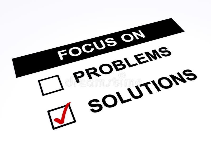 Fokus auf Lösungen vektor abbildung