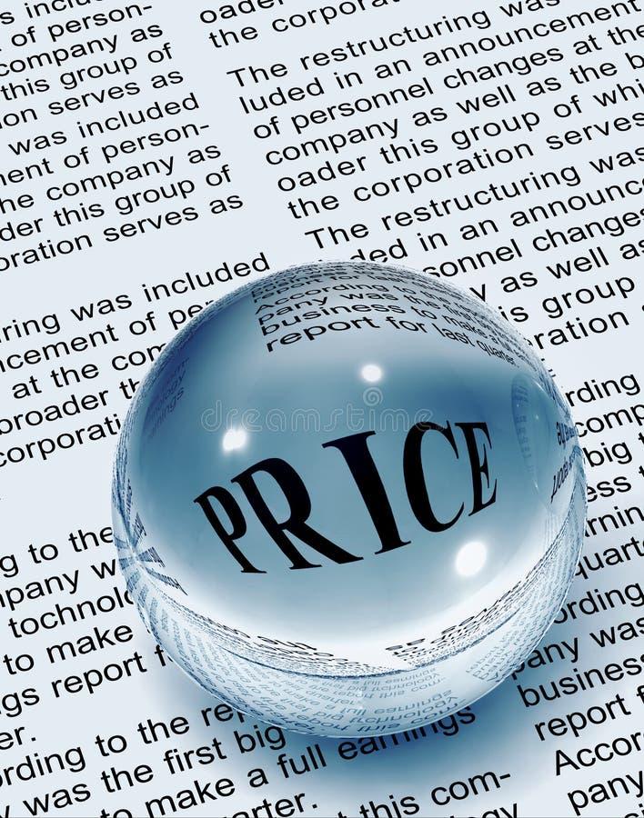 Fokus auf Preis stockfoto