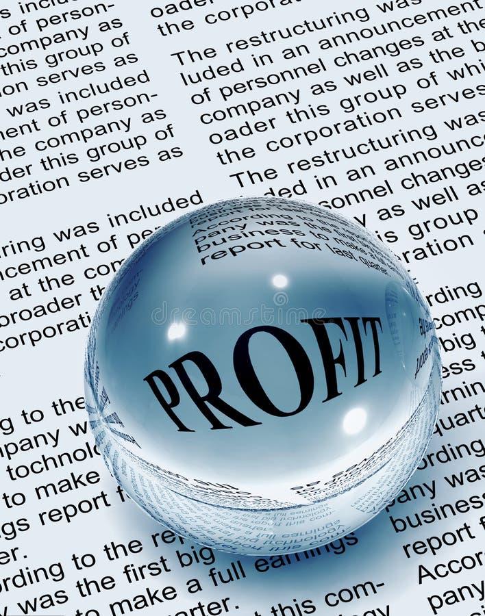 Fokus auf Profit lizenzfreies stockfoto