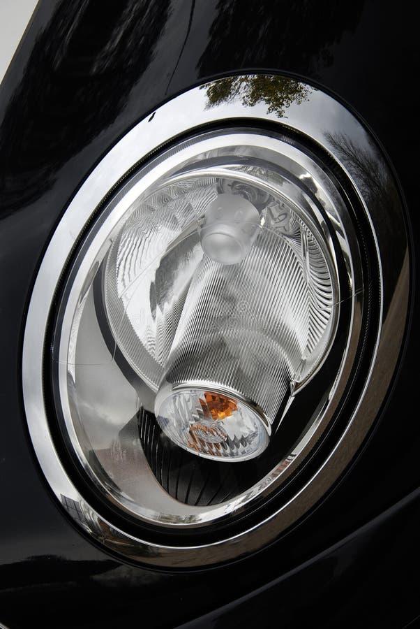 Fokus des schwarzen Autos. lizenzfreie stockfotos