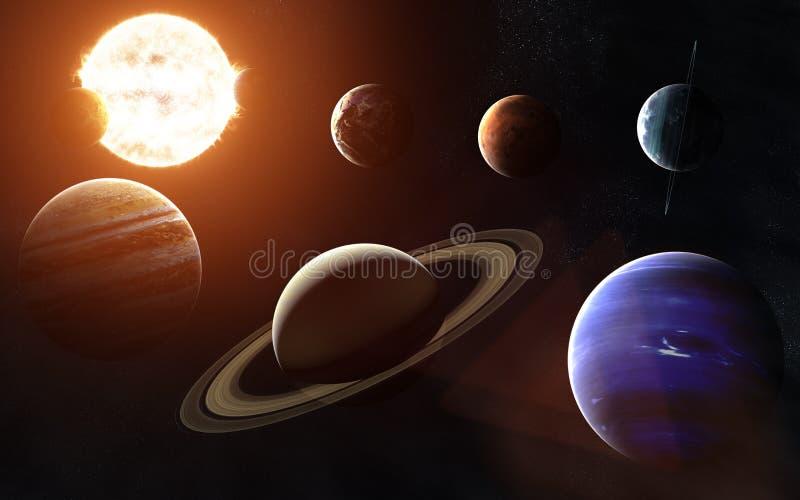 Fokus ein: Ausschnitts-Pfad Erdevenus-MercuryWith Alle Planeten auf einer Seite des Sun Elemente des Bildes werden von der NASA g lizenzfreie abbildung