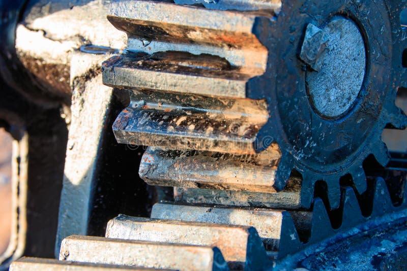 Fokus för ventil för vatten för kugghjulhjul vald med grunt djup av fältet arkivbilder