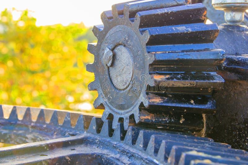 Fokus för ventil för vatten för kugghjulhjul vald med grunt djup av fältet arkivfoton