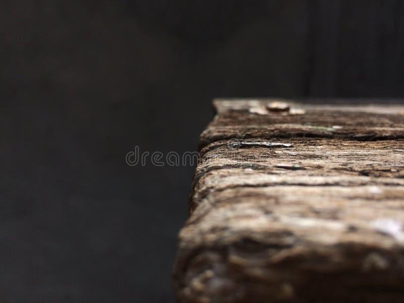 Fokus geschossen auf Holz durch eine Kamera lizenzfreies stockbild