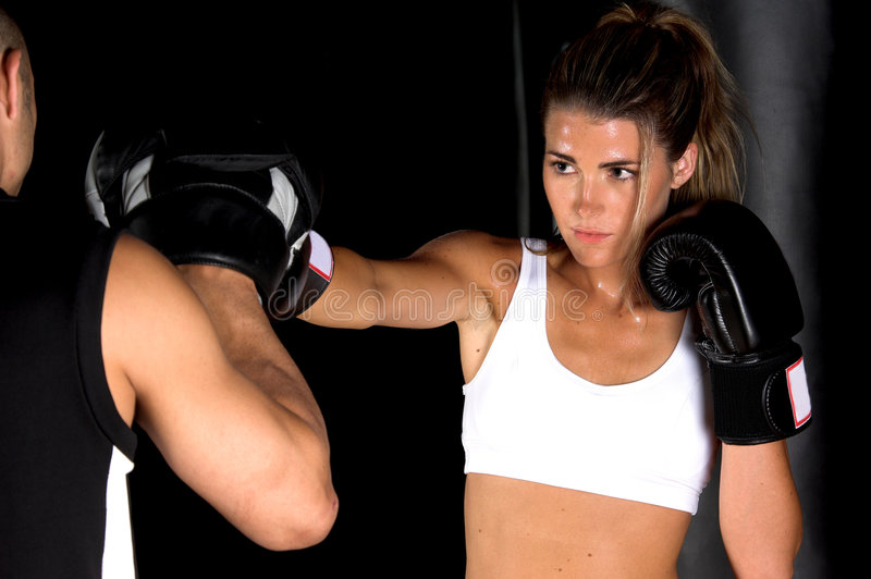 Fokus-Handschuh-Training stockbilder