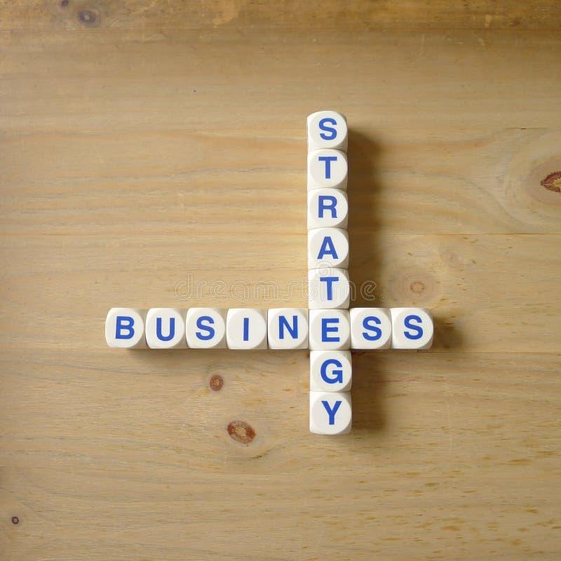 Fokusen är endast på ordaffärsstrategin, i red royaltyfri foto