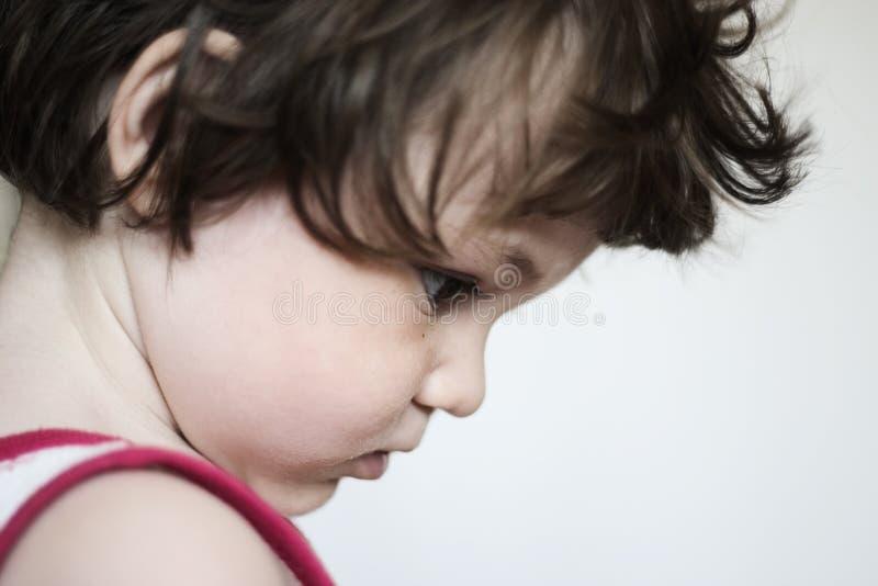fokuserat barn royaltyfria foton