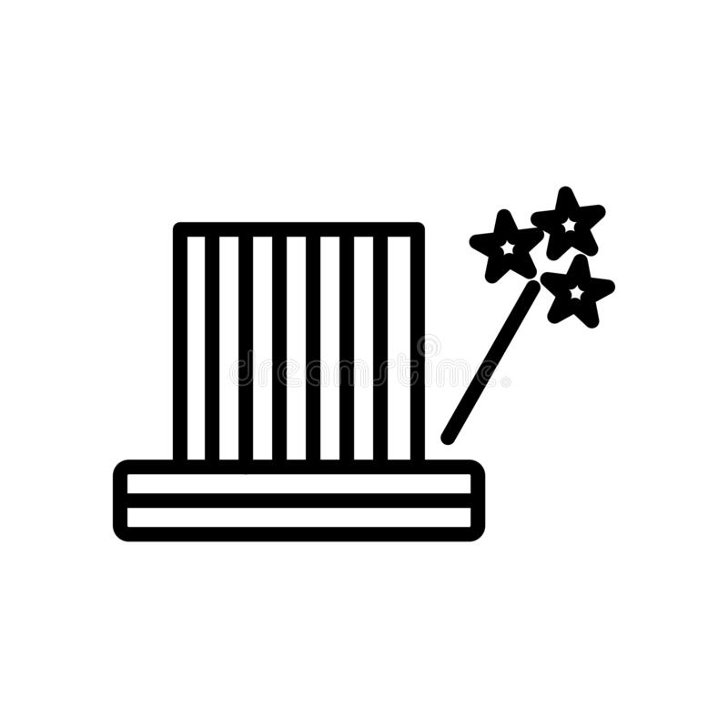 Fokusikonenvektor lokalisiert auf weißem Hintergrund, Fokuszeichen, Linie und Entwurfselementen in der linearen Art lizenzfreie abbildung