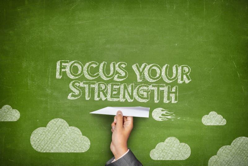 Fokussieren Sie Ihr Stärkekonzept stockfotografie