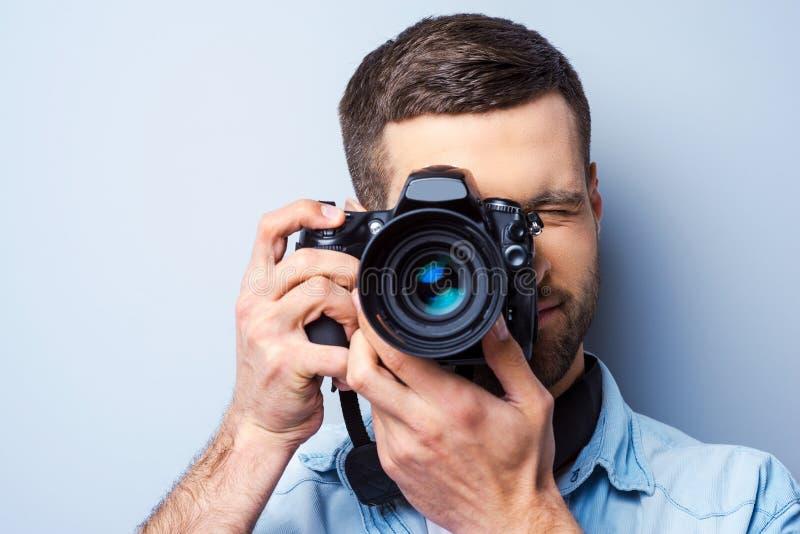 Fokussierung an Ihnen stockfoto