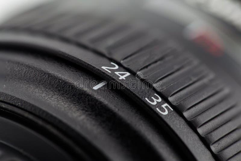 Fokussierungsring- und Linsenfaß der Kamera lizenzfreies stockfoto