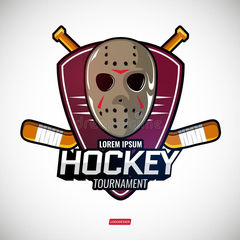 Folâtre des logos pour l'hockey illustration de vecteur