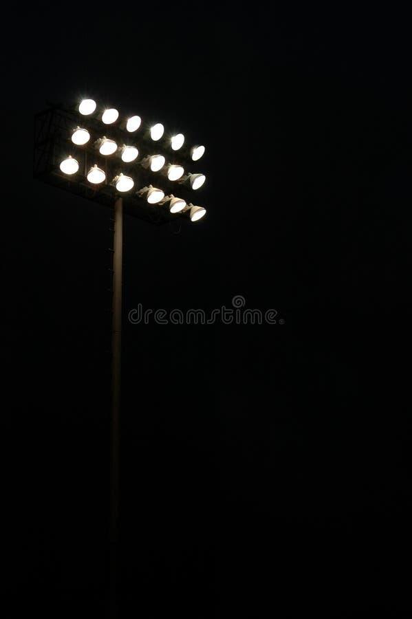 Folâtre des lumières de stade photographie stock