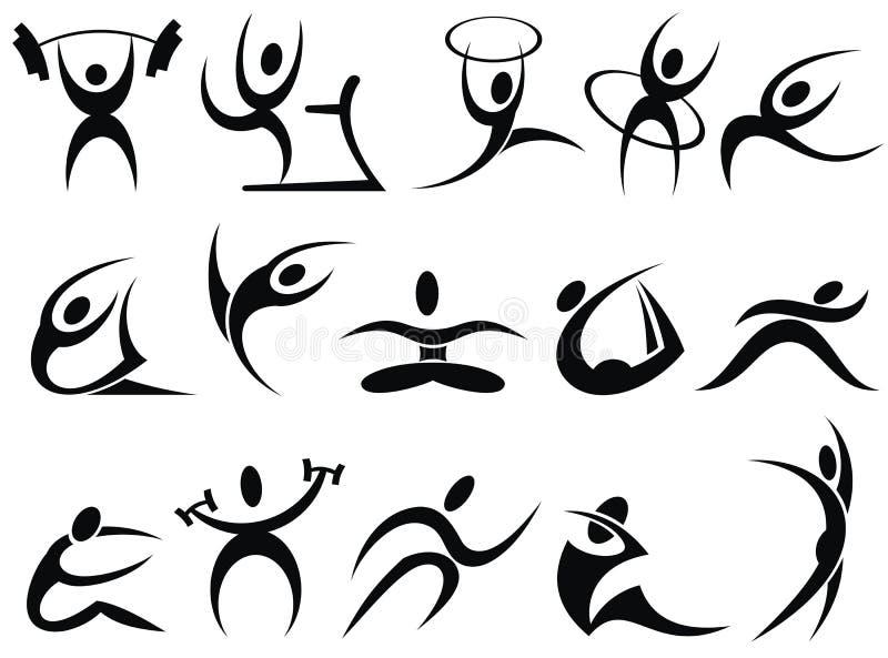 Folâtre des symboles illustration de vecteur