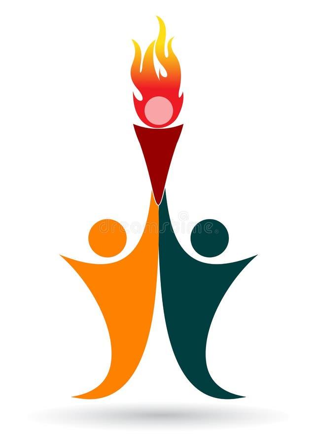 Folâtre le logo illustration de vecteur