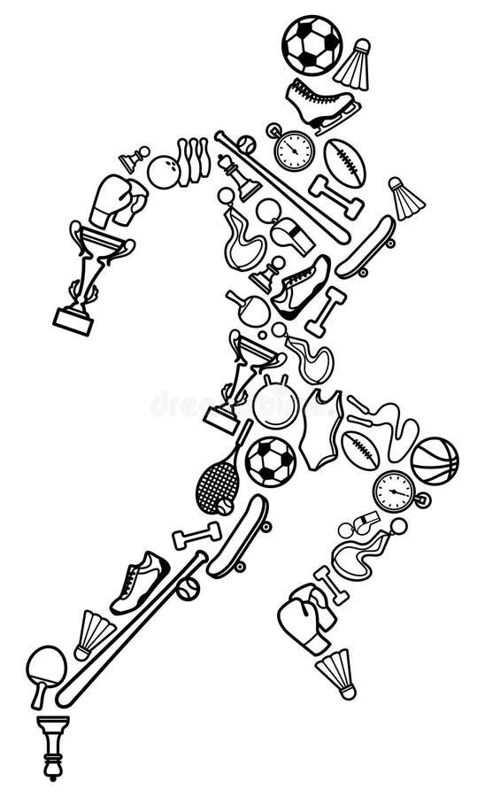 Folâtre le symbole illustration de vecteur