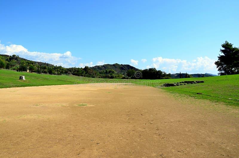 Folâtrez le stade dans Olympia pour les jeux antiques de sport image stock