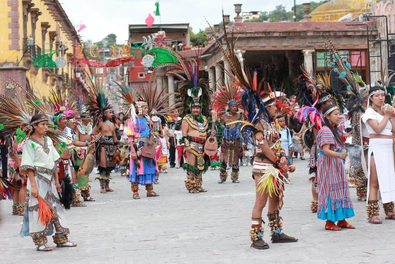 Folclore azteco indiano antico dell'impero immagine stock
