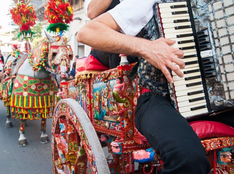 Folclore de Sicília imagem de stock