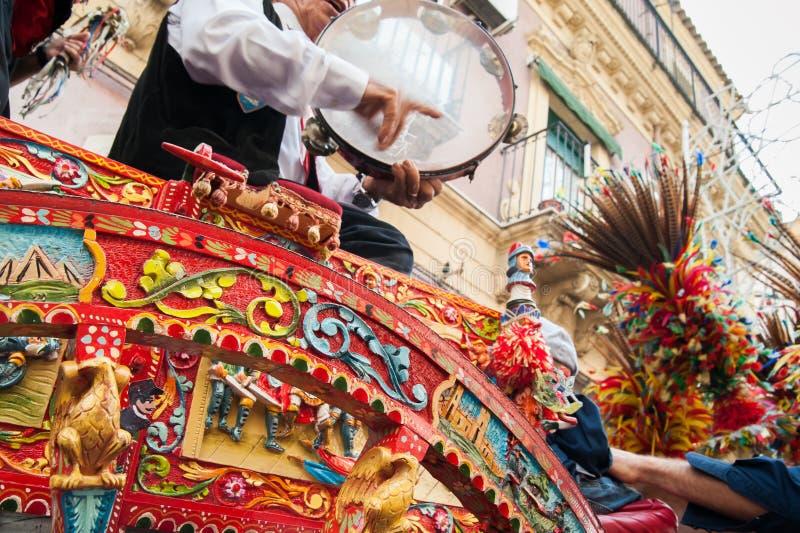 Folclore de Sicília fotos de stock royalty free
