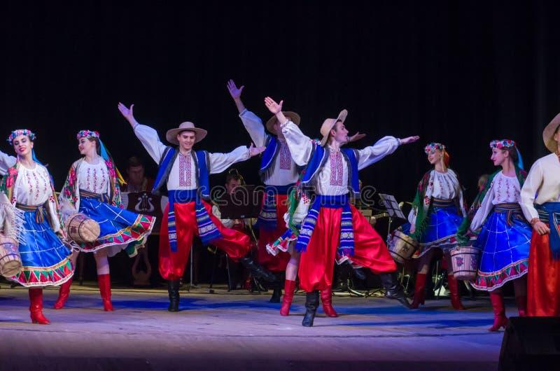 Folclore Ensemble SLAVUTYCH imagens de stock