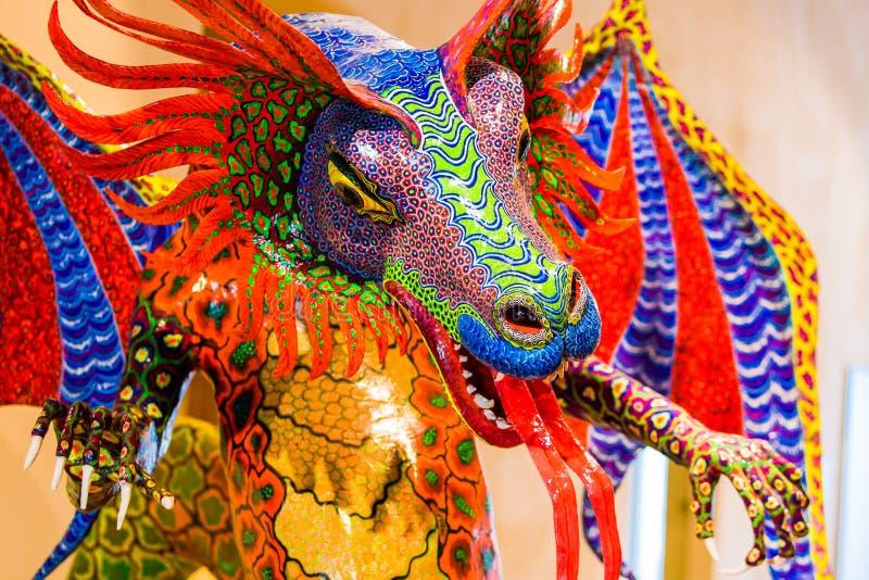 Folclore mexicano tradicional do alebrije da arte imagem de stock royalty free