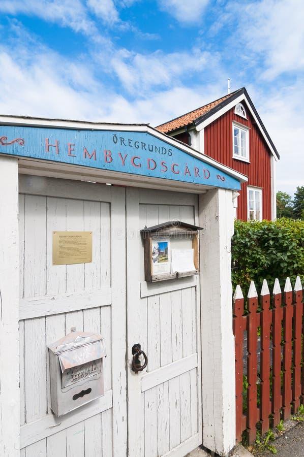 Folclore y museo marítimo Oregrund Suecia fotos de archivo libres de regalías