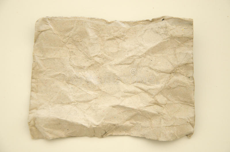 Fold paper. Texture on white background royalty free stock photos