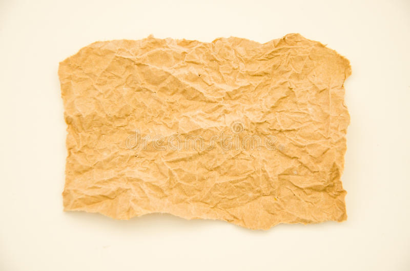 Fold paper. Texture on white background royalty free stock image